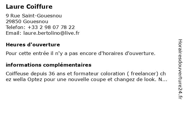 Laure Coiffure à Gouesnou: adresse et heures d'ouverture