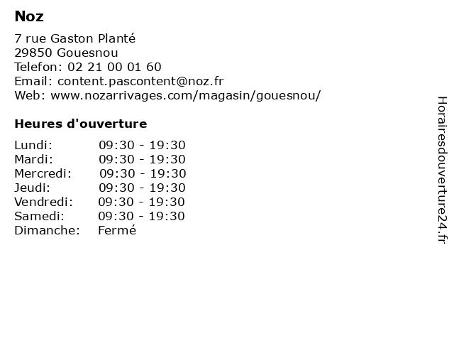 Noz à Gouesnou: adresse et heures d'ouverture