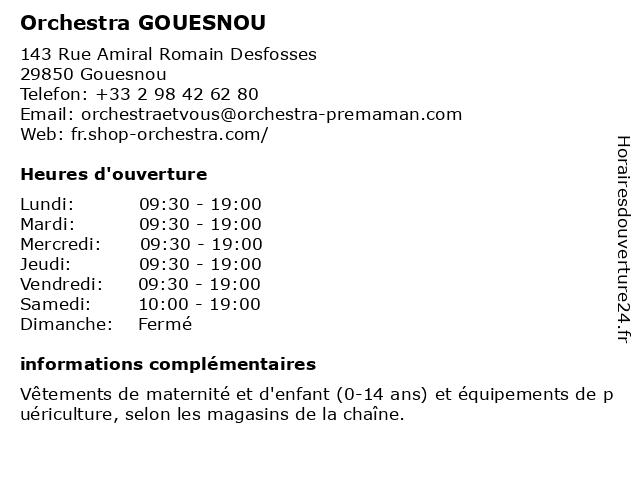 Orchestra GOUESNOU à Gouesnou: adresse et heures d'ouverture