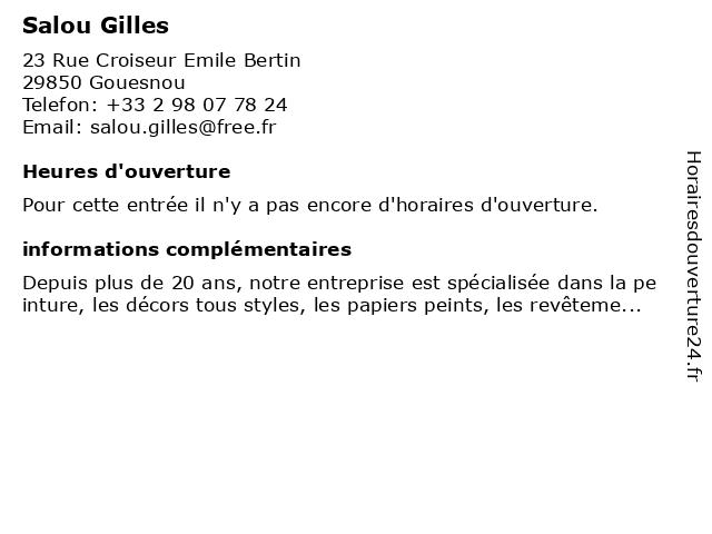 Salou Gilles à Gouesnou: adresse et heures d'ouverture