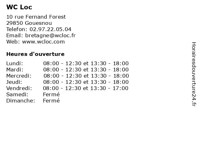 WC Loc à Gouesnou: adresse et heures d'ouverture