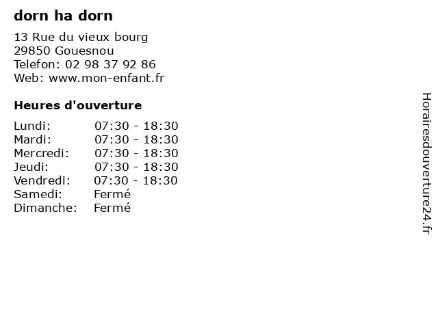 dorn ha dorn à Gouesnou: adresse et heures d'ouverture