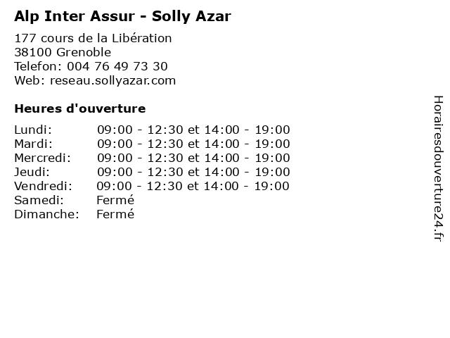 Alp Inter Assur - Solly Azar à Grenoble: adresse et heures d'ouverture
