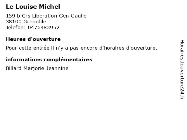 Le Louise Michel à Grenoble: adresse et heures d'ouverture