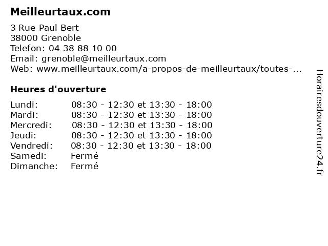 Meilleurtaux.com à Grenoble: adresse et heures d'ouverture