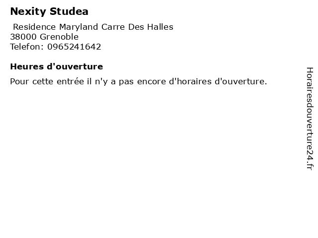 Nexity Studea à Grenoble: adresse et heures d'ouverture