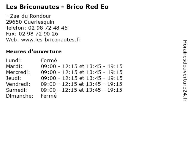 Les Briconautes - Brico Red Eo à Guerlesquin: adresse et heures d'ouverture
