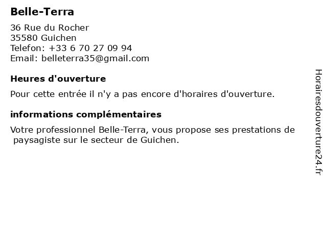 Belle-Terra à Guichen: adresse et heures d'ouverture