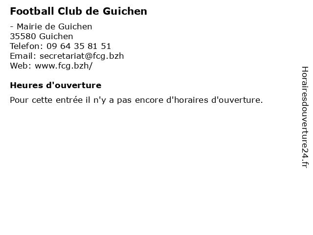 Football Club de Guichen à Guichen: adresse et heures d'ouverture