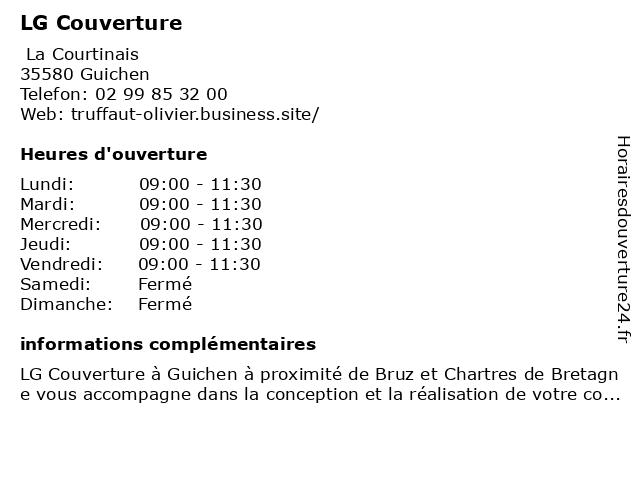 LG Couverture à Guichen: adresse et heures d'ouverture
