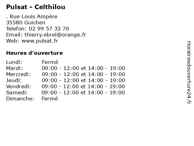 Pulsat - Celthilou à Guichen: adresse et heures d'ouverture