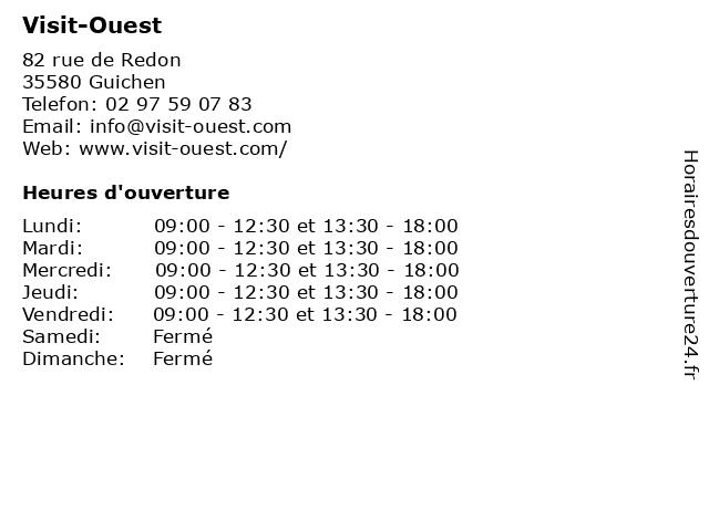 Visit-Ouest à Guichen: adresse et heures d'ouverture