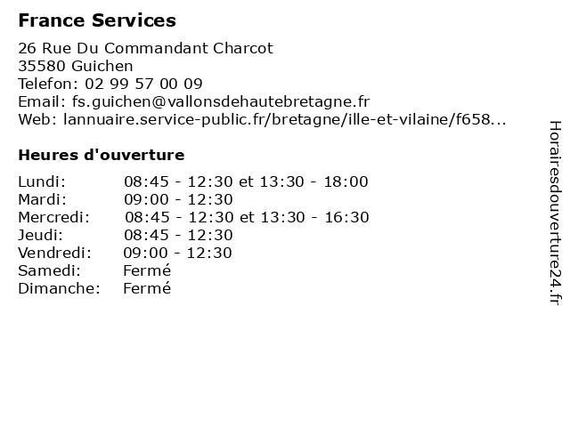 Western Union à Guichen: adresse et heures d'ouverture