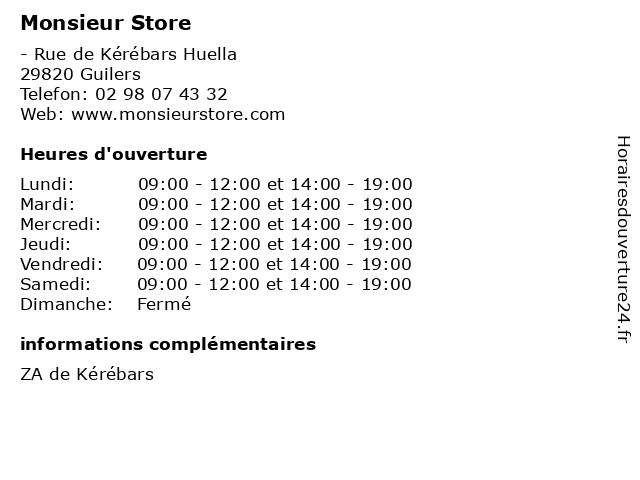 Monsieur Store à Guilers: adresse et heures d'ouverture