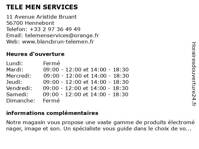 Blanc Brun à Hennebont: adresse et heures d'ouverture