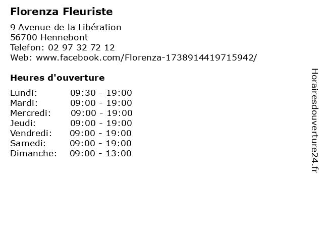 Florenza Fleuriste à Hennebont: adresse et heures d'ouverture