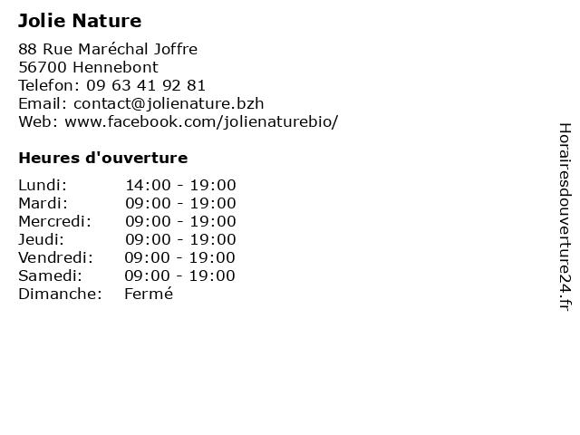 Jolie Nature à Hennebont: adresse et heures d'ouverture