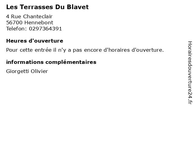 Les Terrasses Du Blavet à Hennebont: adresse et heures d'ouverture