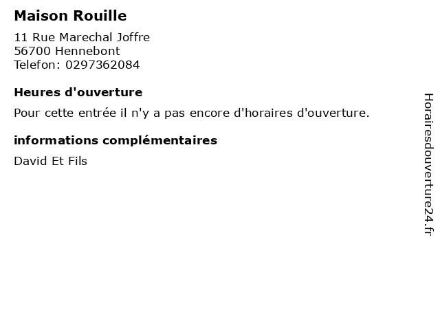 Maison Rouille à Hennebont: adresse et heures d'ouverture