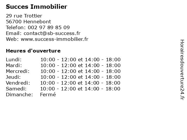 Succes Immobilier à Hennebont: adresse et heures d'ouverture