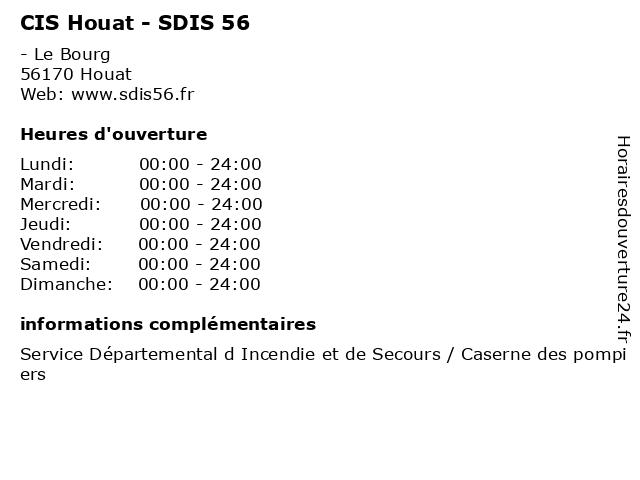 CIS Houat - SDIS 56 à Houat: adresse et heures d'ouverture
