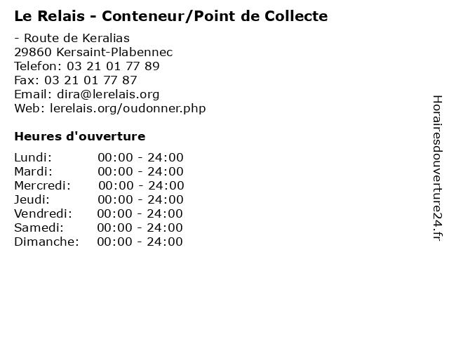 Le Relais - Conteneur/Point de Collecte à Kersaint-Plabennec: adresse et heures d'ouverture