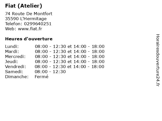 Fiat (Atelier) à L'Hermitage: adresse et heures d'ouverture