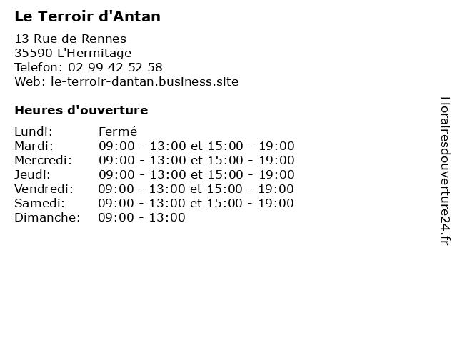 Le Terroir d'Antan à L'Hermitage: adresse et heures d'ouverture