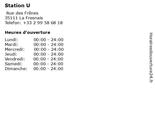 Station U à La Fresnais: adresse et heures d'ouverture