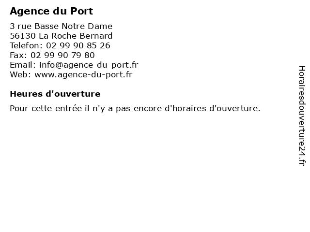 Agence du Port à La Roche Bernard: adresse et heures d'ouverture