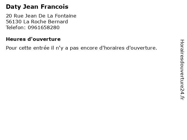 Daty Jean Francois à La Roche Bernard: adresse et heures d'ouverture