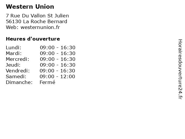 Western Union à La Roche Bernard: adresse et heures d'ouverture