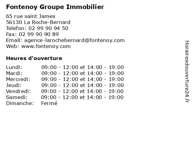 Fontenoy Groupe Immobilier à La Roche-Bernard: adresse et heures d'ouverture