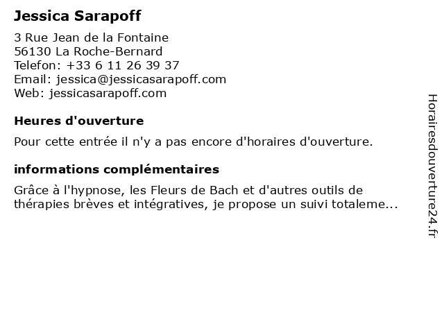 Jessica Sarapoff à La Roche-Bernard: adresse et heures d'ouverture