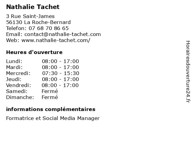 Nathalie Tachet à La Roche-Bernard: adresse et heures d'ouverture