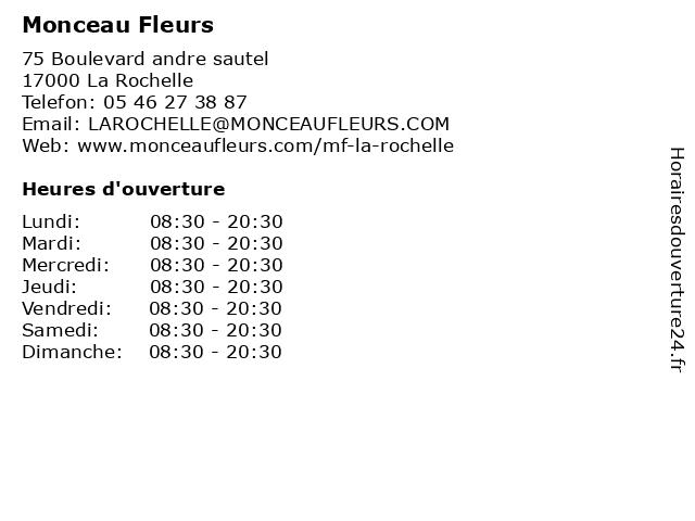 ᐅ Monceau Fleurs - Horaires d'ouverture   75 Boulevard ...
