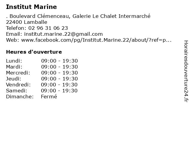 Institut Marine à Lamballe: adresse et heures d'ouverture