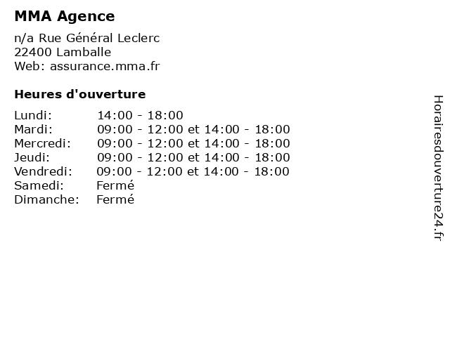 MMA Agence à Lamballe: adresse et heures d'ouverture