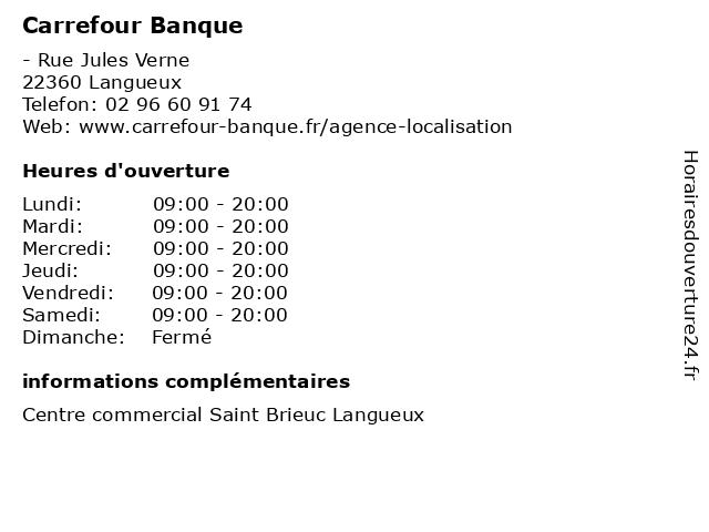 Carrefour Banque à Langueux: adresse et heures d'ouverture
