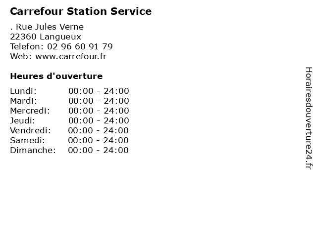 Carrefour Station Service à Langueux: adresse et heures d'ouverture