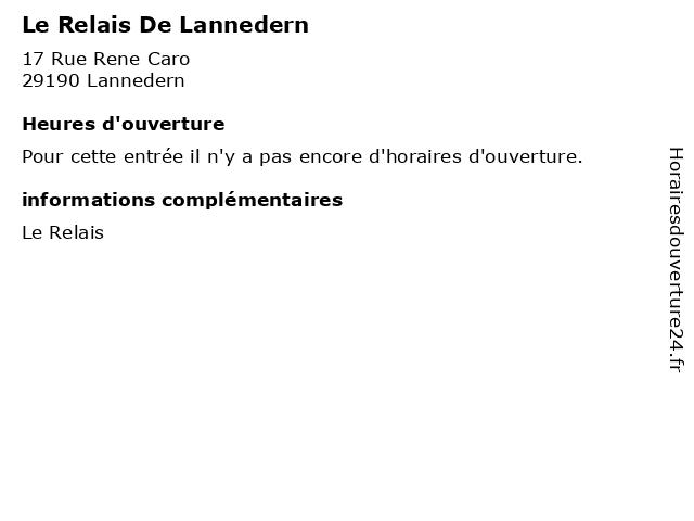 Le Relais De Lannedern à Lannedern: adresse et heures d'ouverture