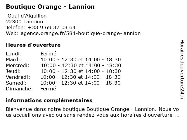Boutique Orange - Lannion à Lannion: adresse et heures d'ouverture