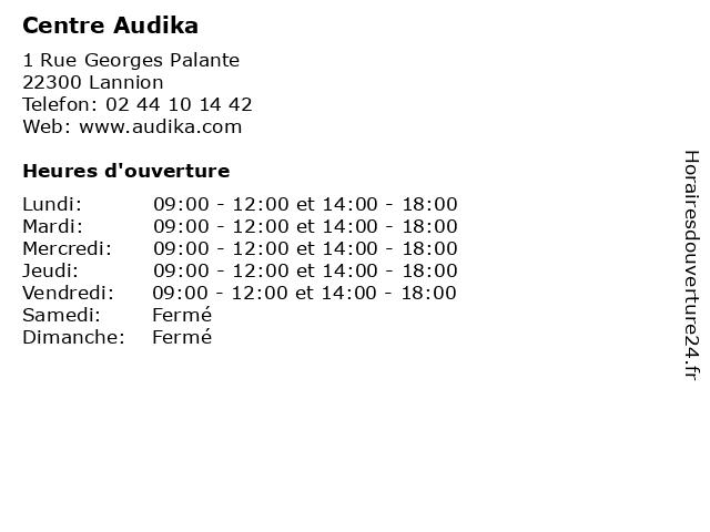 Centre Audika à Lannion: adresse et heures d'ouverture