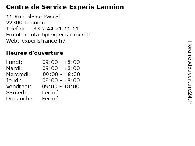 Centre de Service Experis Lannion à Lannion: adresse et heures d'ouverture