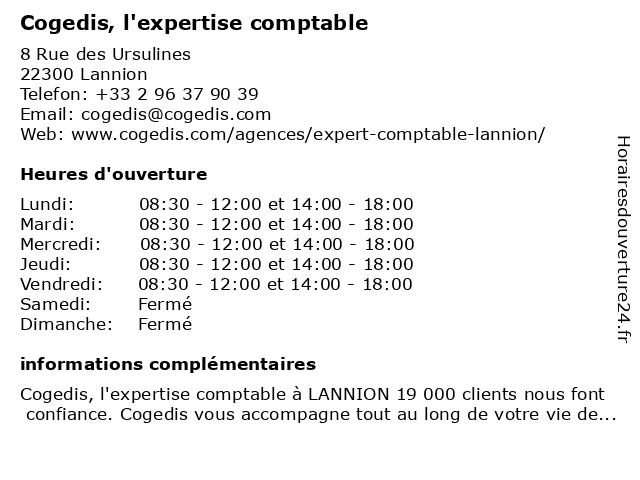 Cogedis à Lannion: adresse et heures d'ouverture