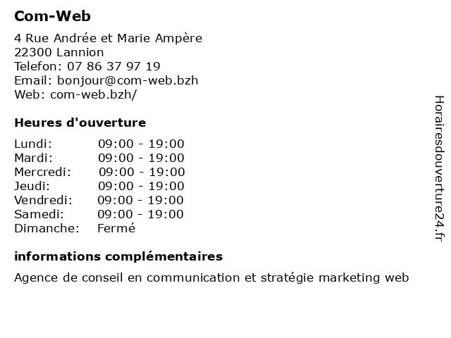 Com-Web à Lannion: adresse et heures d'ouverture