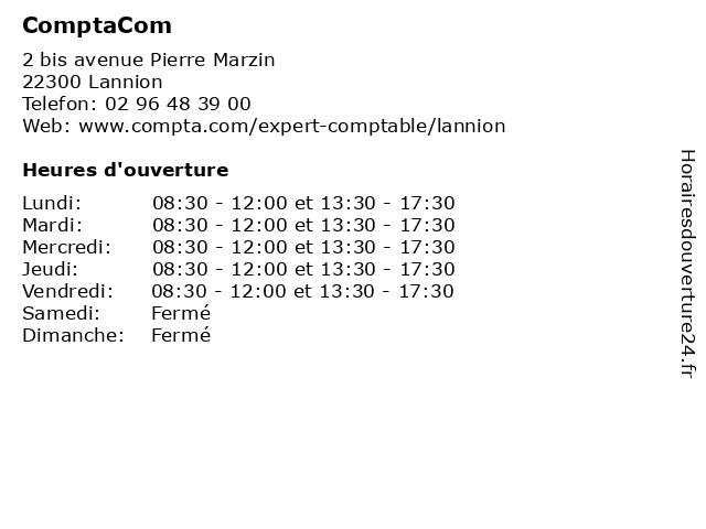 ComptaCom à Lannion: adresse et heures d'ouverture