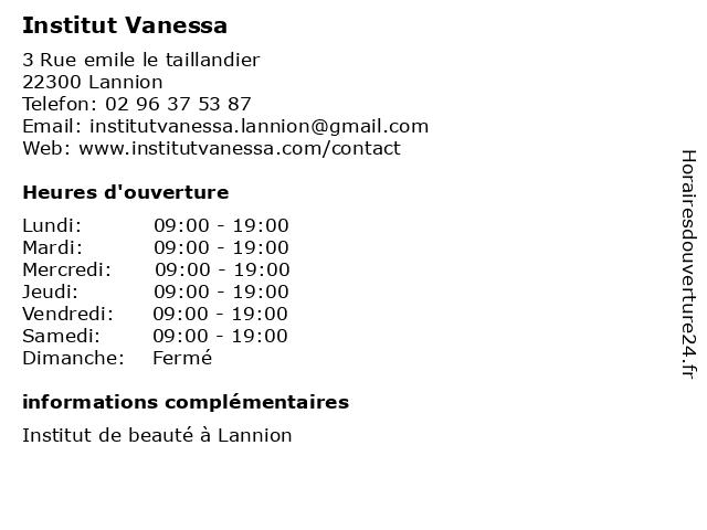 Institut Vanessa à Lannion: adresse et heures d'ouverture