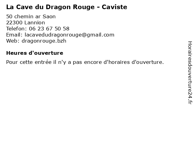 La Cave du Dragon Rouge - Caviste à Lannion: adresse et heures d'ouverture