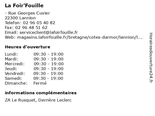 La Foir'Fouille à Lannion: adresse et heures d'ouverture